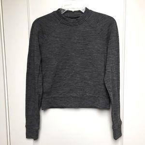 Lululemon cropped grey sweatshirt